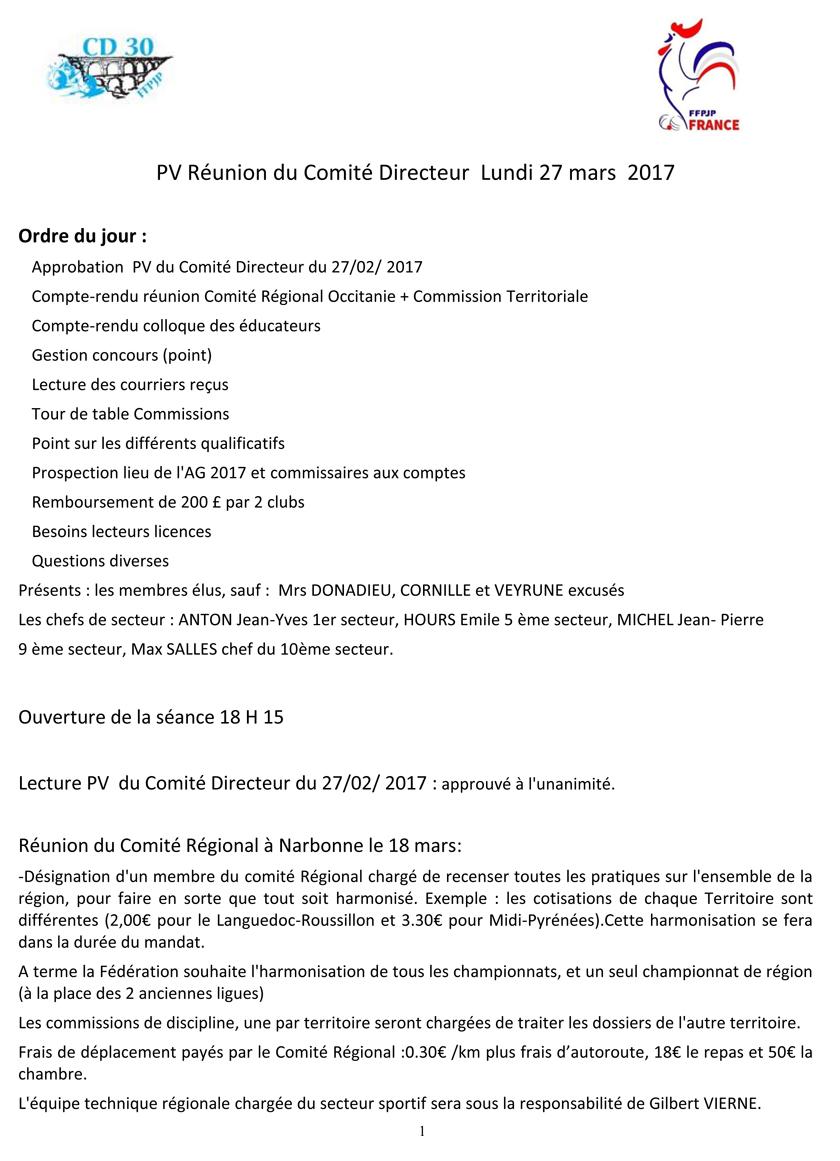 frais déplacements 2017